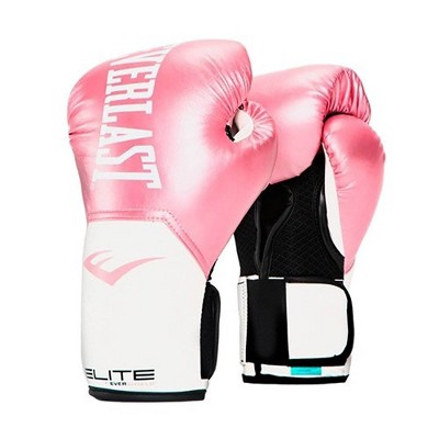Everlast Elite Leather Training Boxing Gloves Size 12 Ounces, Pink