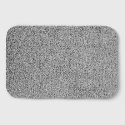 Perfectly Soft Solid Shag Bath Rug Jet Gray - Opalhouse™