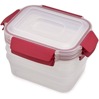 Joseph Joseph 6pc Nest Lock Food Storage Container Set Red