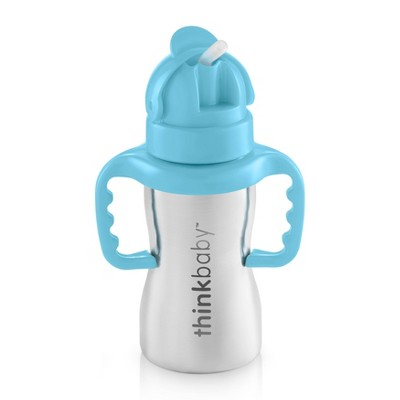 Thinkbaby Thinkster Stainless Straw Baby Bottle - Blue
