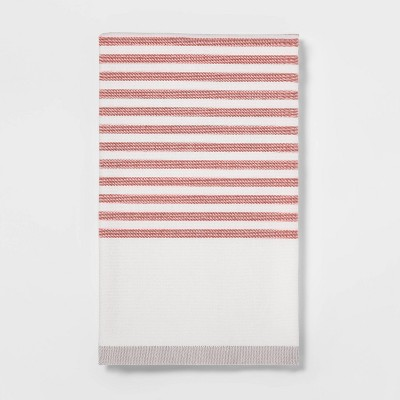 Striped Dual Sided Terry Kitchen Towel Red/Orange - Project 62™