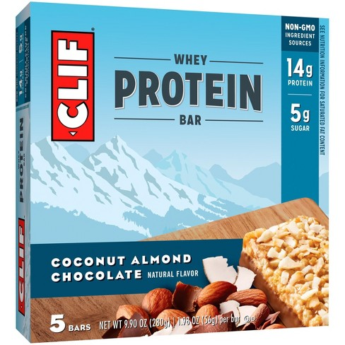 Clif Whey Protein Bar - Coconut Almond Chocolate - 5ct - image 1 of 2