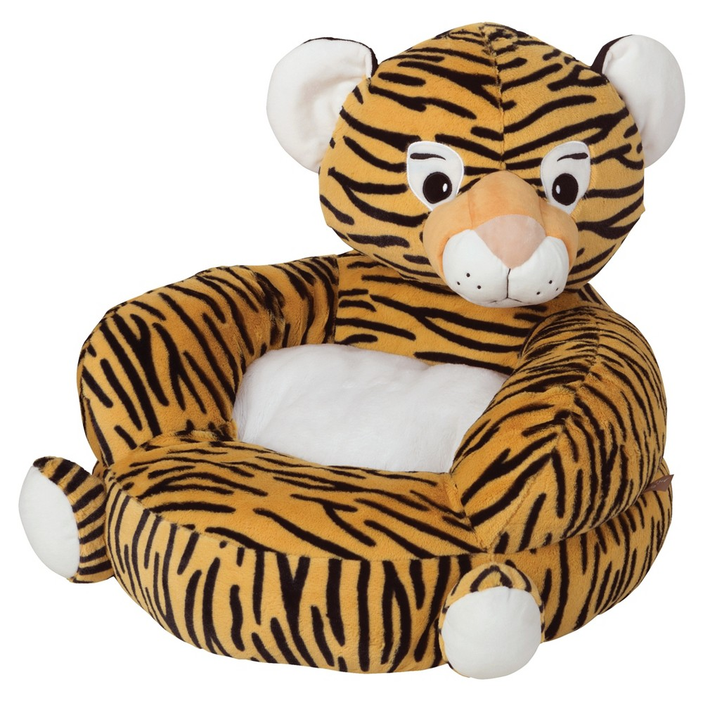 Image of Children's Plush Character Chair - Tiger Orange Sherbert - Trend Lab