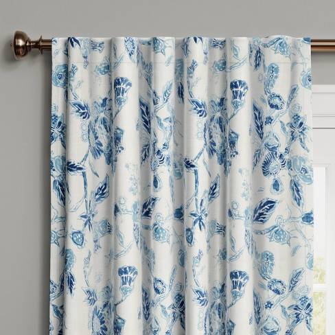Stamped Floral Blackout Curtain - Threshold™ - image 1 of 4