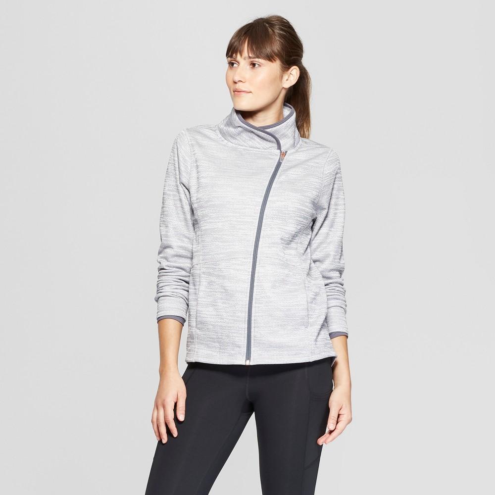 Women's Elevated Tech Fleece Full Zip Sweatshirt - C9 Champion Pale Pink/Military Blue M