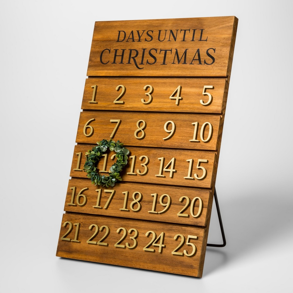 Advent Calendar Wooden Stand - Threshold, Multi-Colored