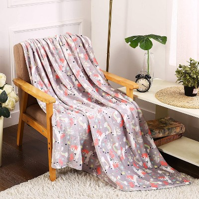 """Extra Plush and Comfy Microplush Throw Blanket (50"""" x 60"""")"""
