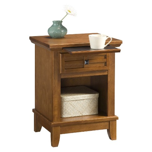 Arts & Crafts Nightstand Cottage Oak - Home Styles - image 1 of 1