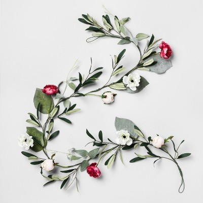 60  x 5  Artificial Rose And Olive Garland - Opalhouse™