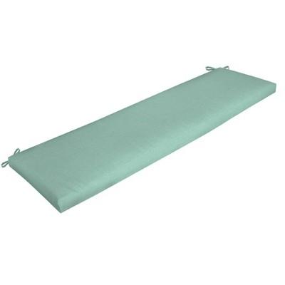Leala Texture Outdoor Bench Cushion Aqua - Arden Selections