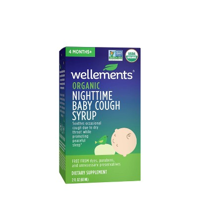Wellements Organic Baby Nighttime Cough - 2 fl oz