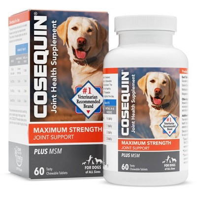 Cosequin Glucosamine Chewable Supplement Tablets for Dogs - 60ct