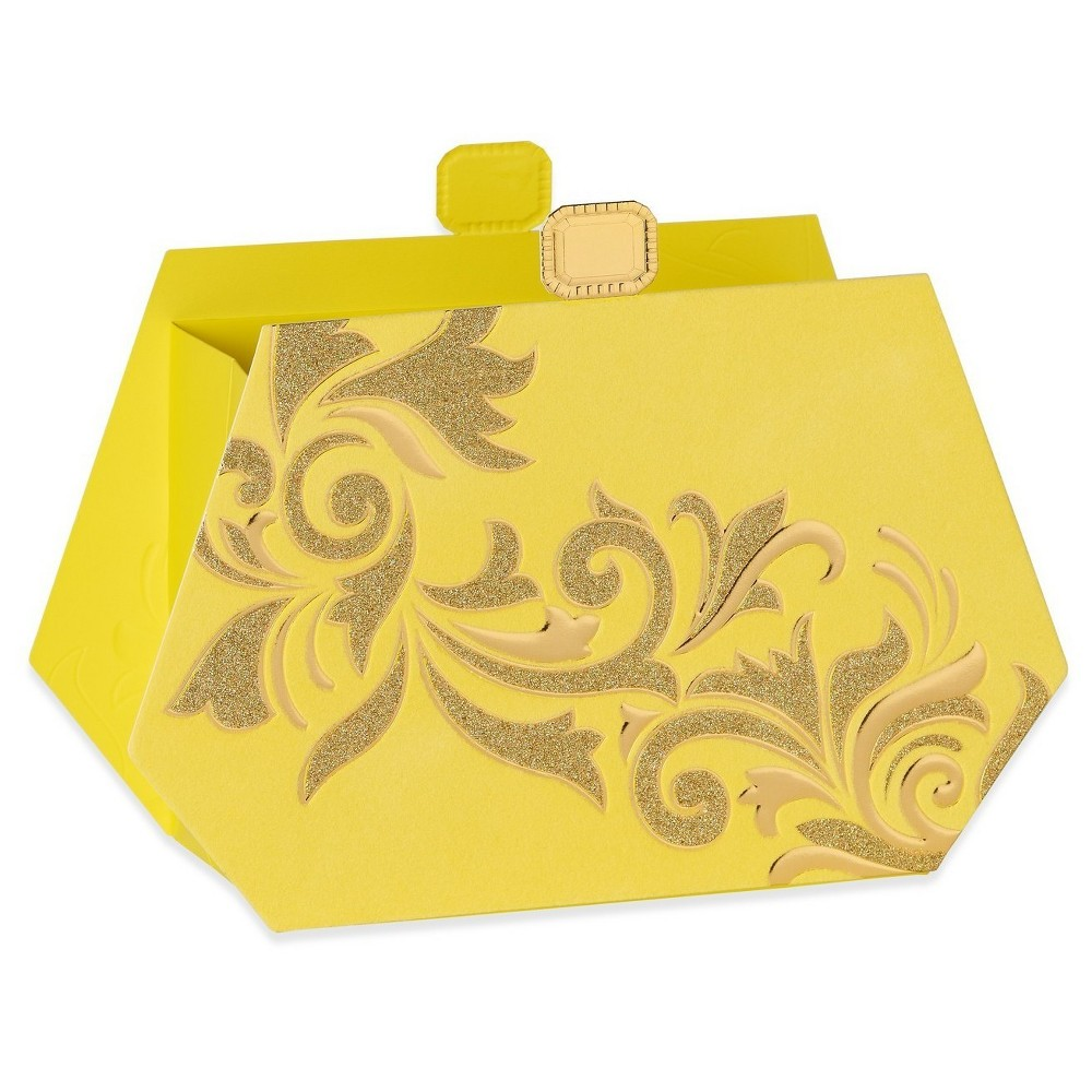 Papyrus Yellow Clutch Gift Bag - Small, Multi-Colored