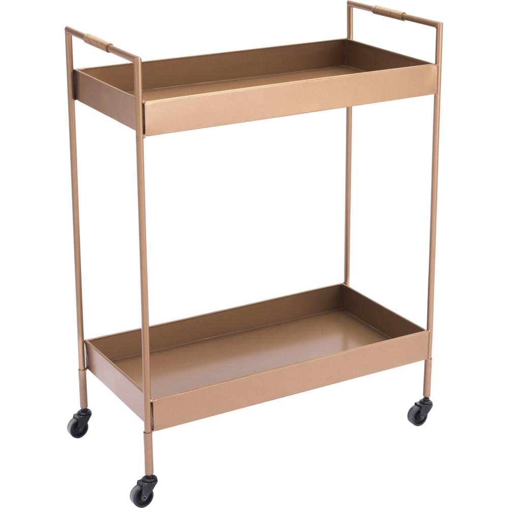 33 Luxe Bar Cart Gold - ZM Home