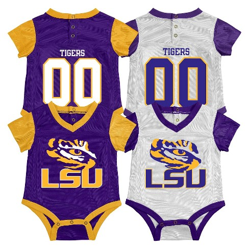 LSU Tigers Newborn Body Suit Set Purple - image 1 of 5