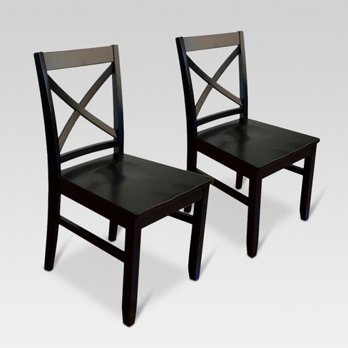 Fabulous Set Of 2 Carey Dining Chair Threshold Pabps2019 Chair Design Images Pabps2019Com