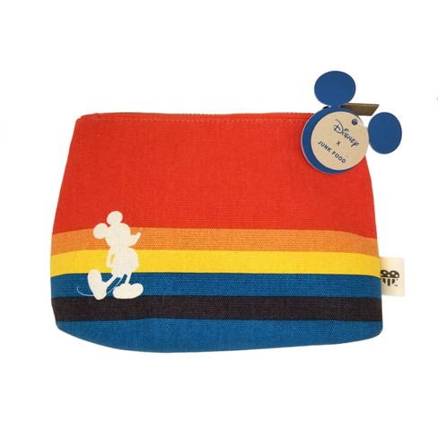 Junk Food Mickey Rainbow Cosmetic Bag - Orange - image 1 of 1