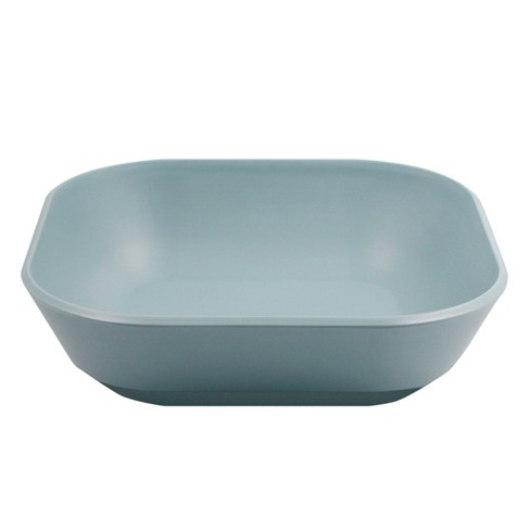 Rounded Square Melamine 45oz Pasta Bowl Ripple Blue - Room Essentials™ - image 1 of 1