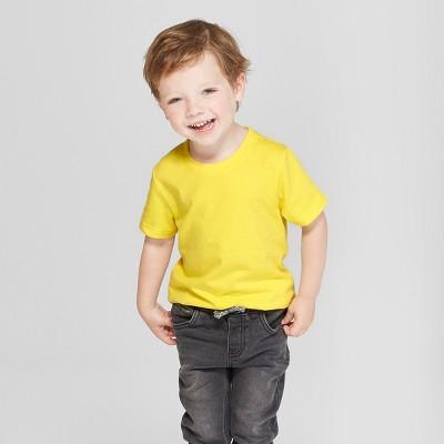 Toddler Boys' Short Sleeve T-Shirt - Cat & Jack™ Yellow 18M