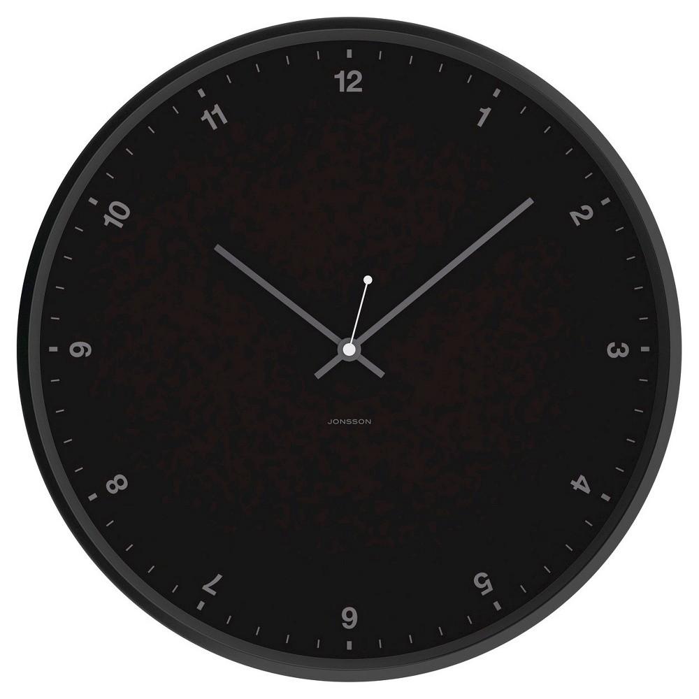 12 Round Wall Clock Black - Jonsson Timeware