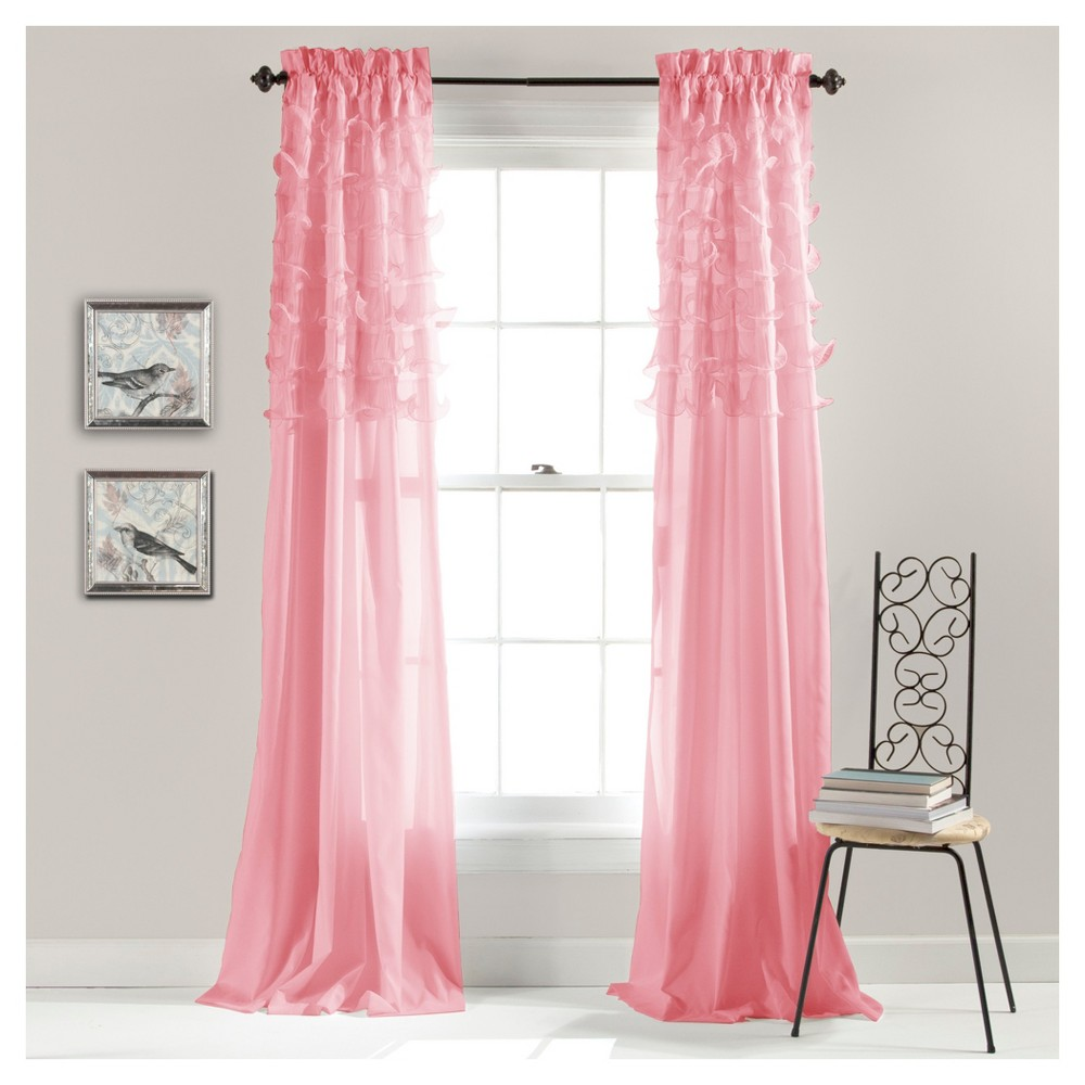 Set of 2 Avery Window Curtain Pink (84
