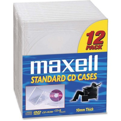 Maxell CD/DVD Jewel Cases CD-360 - Jewel Case - Book Fold - Plastic - Clear - 12 CD/DVD
