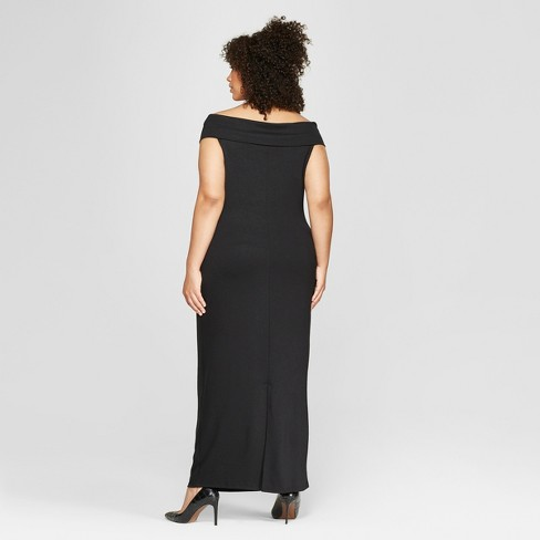 Womens Plus Size Off The Shoulder Knit Maxi Dress Who What Wear