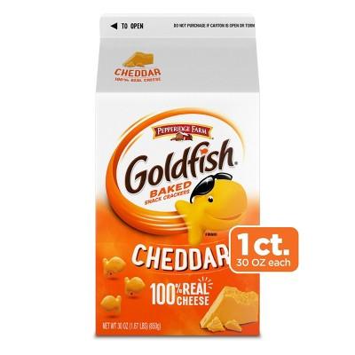 Pepperidge Farm Goldfish Cheddar Crackers - 30oz Carton