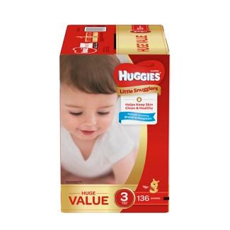 Huggies Little Snugglers Diapers Huge Pack - Size 3 (136ct )