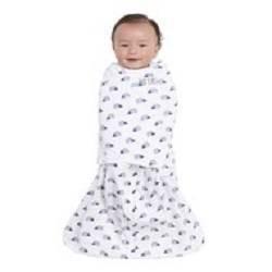 Halo Sleepsack Swaddle 100% Cotton Hedgehog - Navy S