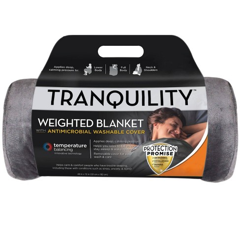 """48""""x72"""" Temperature Balancing Weighted Blanket Gray - Tranquility - image 1 of 3"""