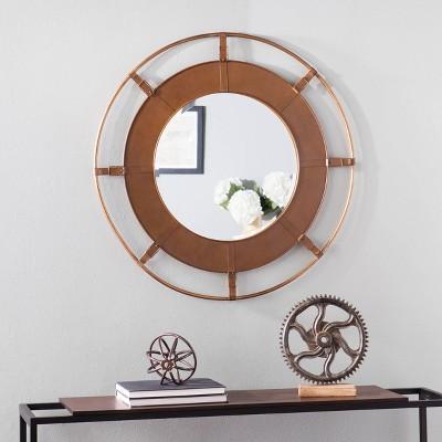 """35"""" Strathen Decorative Wall Mirror Bronze - Aiden Lane"""