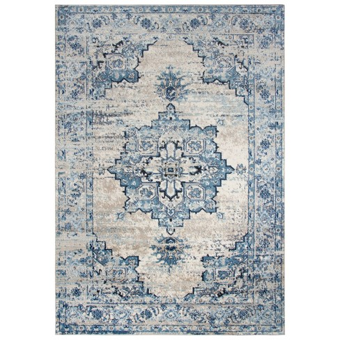 Encore Traditional Medallion Polypropylene Area Rug - Rizzy Home - image 1 of 4