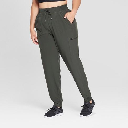 2d88e327cee5a Women s Plus Size Woven Mid-Rise Train Pants 29