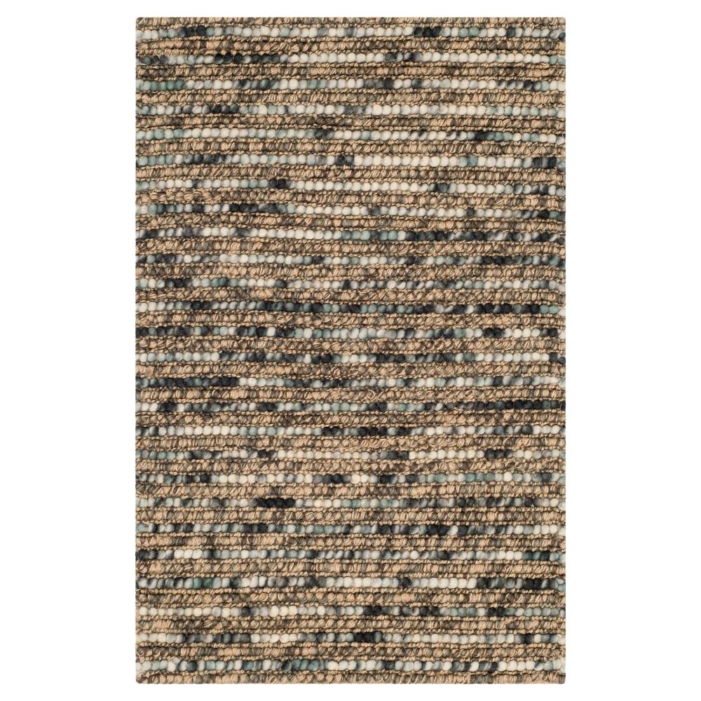 Promos Blue Stripe Woven Area Rug - (4X6) - Safavieh