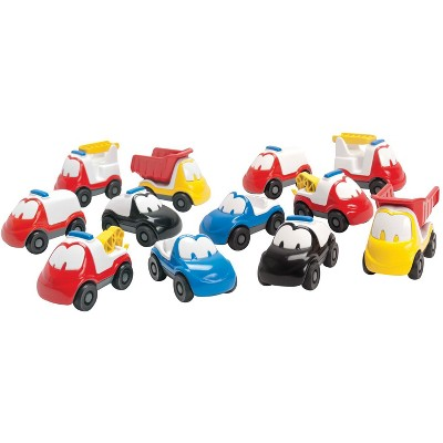 Dantoy Fun Car Set, Assorted Colors, 12 pc