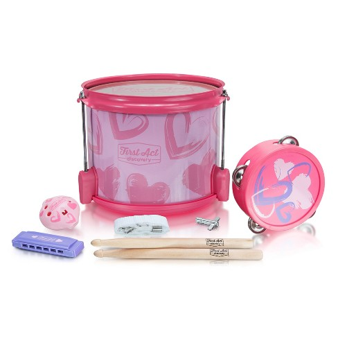 First Act Discovery - Pink Hearts Music Show - Percussion Pack - image 1 of 2