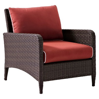 Kiawah Outdoor Wicker Arm Chair - Crosley