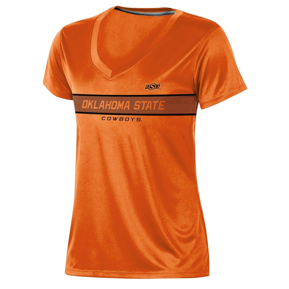 Oklahoma State Cowboys Women's Short Sleeve V-Neck Performance T-Shirt - XL, Multicolored