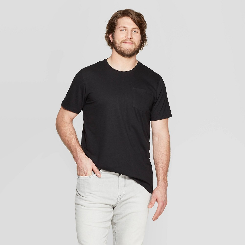 Men's Tall Short Sleeve Elevated Ultra-Soft Crew Neck T-Shirt - Goodfellow & Co Black MT