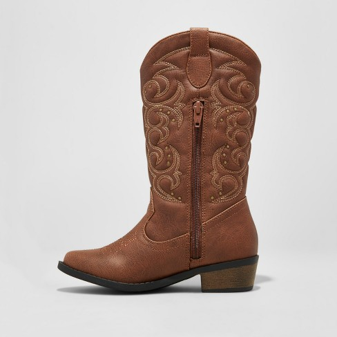 86a29b425d0 Girls  Meadow Western Boot Cat   Jack™ Brown   Target
