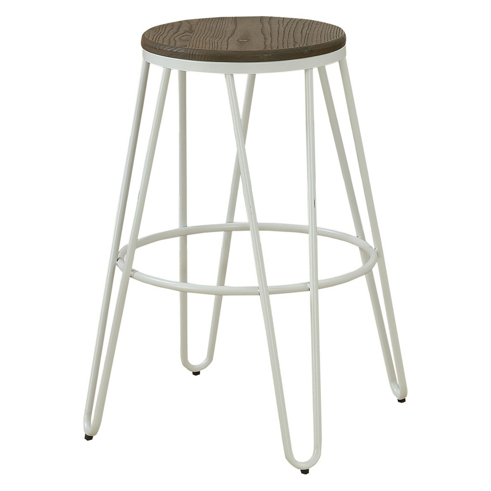 Image of Set of 2 Puckard Contemporary Counter Height Stools White - ioHOMES