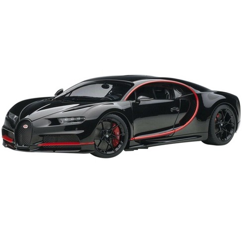 Bugatti Chiron Nocturne Black with Red Accents 1/18 Model Car by Autoart - image 1 of 4