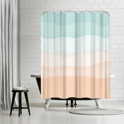 """Americanflat Mint Peach Abstract by Jetty Printables 71"""" x 74"""" Shower Curtain"""