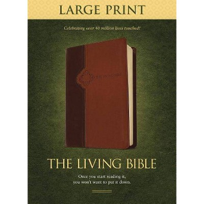 Living Bible-LIV-Large Print - (Leather Bound)