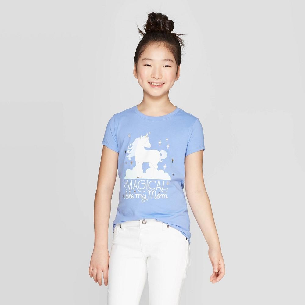 4be4063f1b5 Girls Magical Like Mom Graphic T Shirt Cat Jack Light Blue M