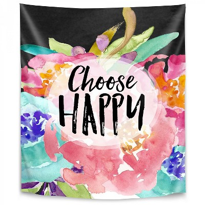 Americanflat Choose Happy by Amy Brinkman Wall Tapestry
