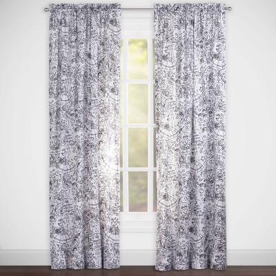 Space Dreams Hidden Pictures Rod Pocket Curtain Panel - Highlights