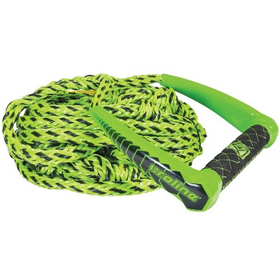 Connelly Proline Waterski 25 Foot Tractor Radius Handle w/ 5 Section Rope, Green