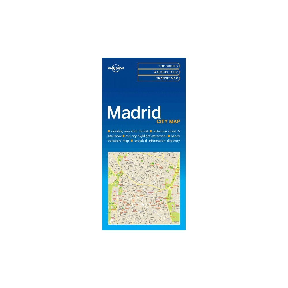 Lonely Planet Madrid city Map (Paperback)
